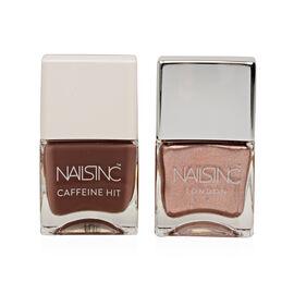 Nails Inc: Afternoon Mocha- 14ml  & Carriage Gotta Wait - 14ml