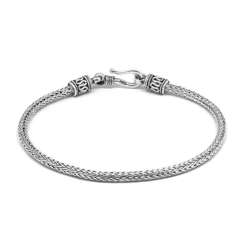Royal Bali Collection Sterling Silver Tulang Naga Bracelet (Size 7), Silver wt 8.27 Gms.