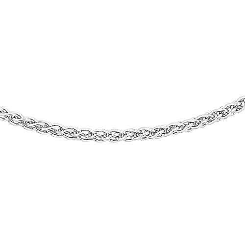 Sterling Silver Sliding Adjustable Spiga Chain (Size 20)