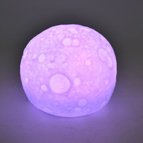 TJC Special Full Moon Lamp - 16 Colour Changing LED Light with Remote Control (Size 12  Cm)