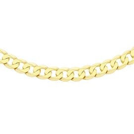 Vicenza Collection- 9K Yellow Gold Curb Necklace (Size 20), Gold Wt. 11.67 Gms
