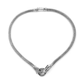 Royal Bali Collection Dragon Necklace (Size 18) in Sterling Silver, Silver wt 65.44 Gms.