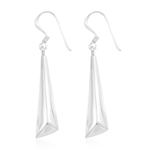 Vicenza Collection-Sterling Silver Hook Earrings, Silver wt. 3.68 Gms.