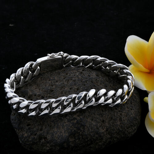 Royal Bali Collection Sterling Silver Snake Bone Bracelet (Size 8.5), Silver wt 64.64 Gms.
