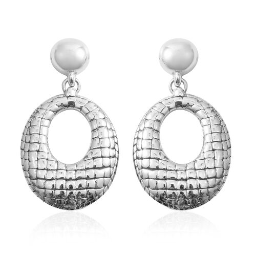 Rhodium Overlay Sterling Silver Earrings (with Push Back) Silver wt 12.59 Gms.