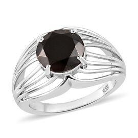 Elite Shungite (Rnd 9 mm) Ring in Platinum Overlay Sterling Silver 1.75 Ct.