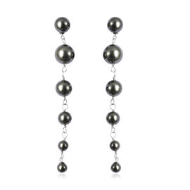Monster Deal - Peacock Colour Shell Pearl Dangle Earrings in Sterling Silver