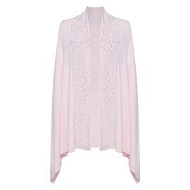 Kris Ana Embellished Shawl One Size (8-20) - Pink