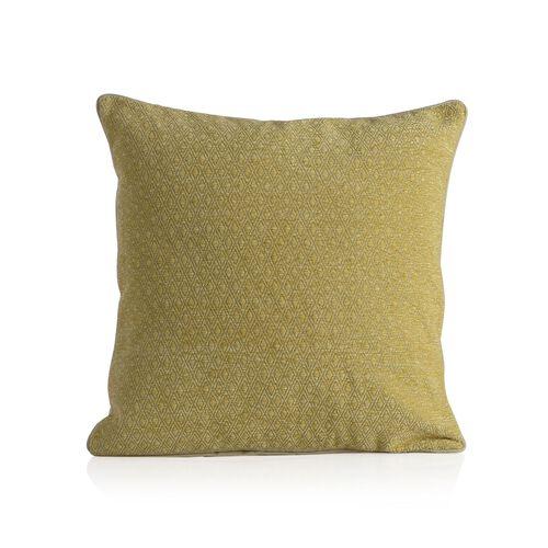 Diamond Pattern Yellow Colour Cushion (Size 43x43 Cm)