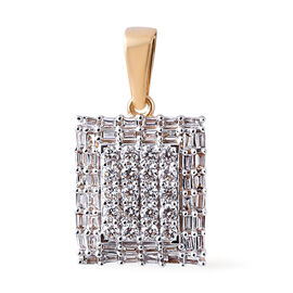 Limited Edition- ILIANA 18K Yellow Gold IGI Certified Diamond (Bgt and Rnd) (SI-GH) Pendant 1.000 Ct