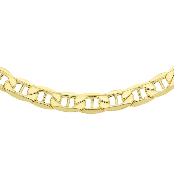 Italian Made 9K Yellow Gold Rambo Necklace with Lobster Clasp (Size - 20), Gold Wt. 11.10 Gms