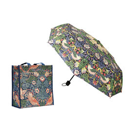 2 Piece Set - SIGNARE  - Tapestry Collection William Morris Strawberry Thief Blue Multi Compartment