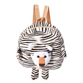 Close Out Deal- 3D Zebra Kids Plush Backpack (Size 26x27x7cm) with Shoulder Strap