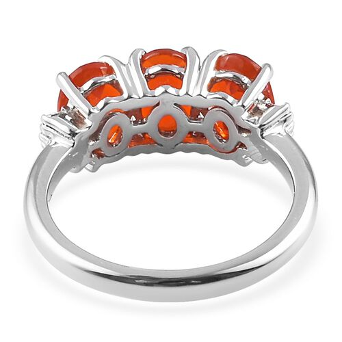 RHAPSODY 950 Platinum AAAA Jalisco Fire Opal and Diamond (VS/E-F) Ring 1.65 Ct.