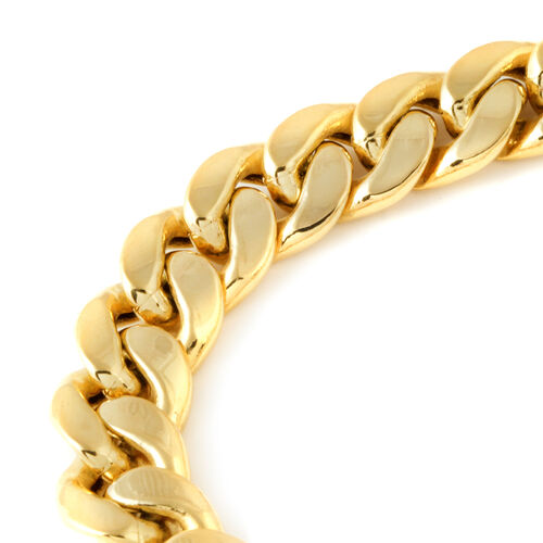 Exclusive Edition - JCK Vegas Collection 9K Yellow Gold Curb Bracelet (Size 8), Gold wt. 24.22 Gms.