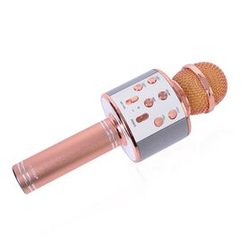 Karaoke Wireless Microphone with Bluetooth and Audio Recording (Size 23 Cm) - Rose