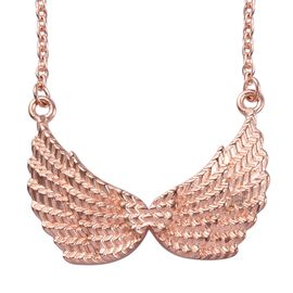 Rose Gold Overlay Sterling Silver Necklace (Size 18), Silver wt 5.00 Gms