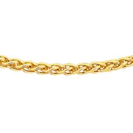 Hatton Garden Deal - ILIANA 18K Yellow Gold Spiga Necklace (Size - 18)