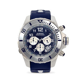KYBOE Empire Collection Chrono Silver Sea - 48MM LED Watch - 100M Water Resistance (Blue)