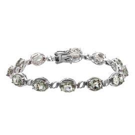 Prasiolite (Ovl) Bracelet (Size 8) in Platinum Overlay Sterling Silver   16.50 Ct, Silver wt 16.00 G