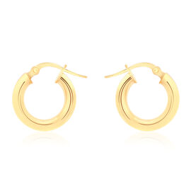 ILIANA 18K Yellow Gold Creole Earrings (with Clasp), Gold wt 1.40 Gms