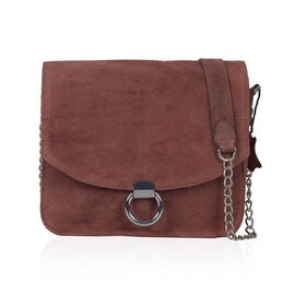 Italian Designer Inspired-100% Genuine Leather Maroon Colour Sling Bag (Size 25x25 Cm)