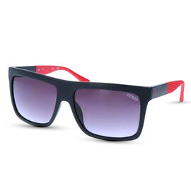 Guess Black Flat-Top Sunglasses with Red Tips