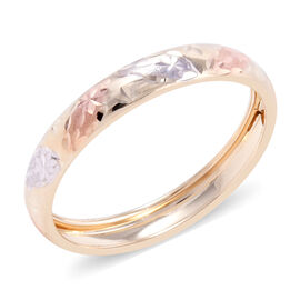Royal Bali Collection - 9K Yellow, White and Rose Gold Ring