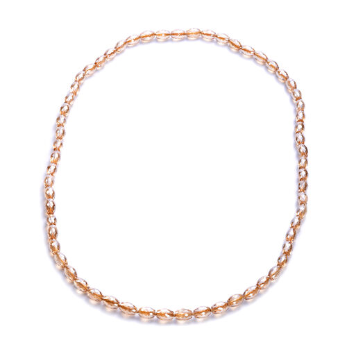 Simulated Champagne AB Crystal Beaded Neckalce (Size 30)