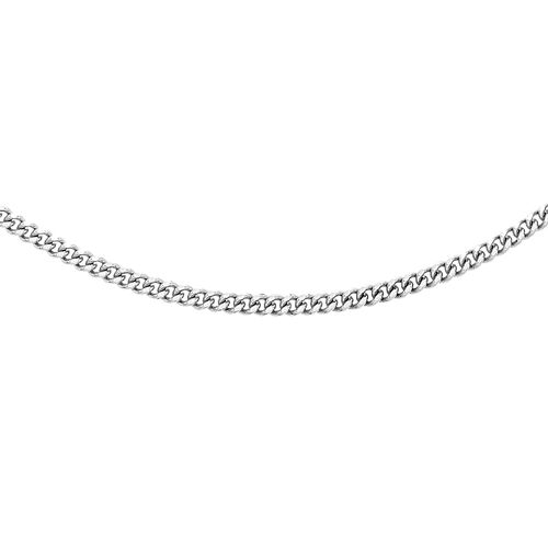 RHAPSODY 950 Platinum Diamond Cut Curb Necklace (Size 22), Platinum wt 8.70 Gms.