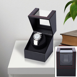 Automatic Rotating Watch Winder Box (Size 12x13x16Cm) - Black