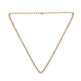 Curb Chain Necklace in 9K Yellow Gold 4.33 Grams 18 Inch