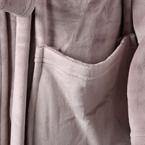 Luxury Edition - Super Soft Silk Touch Dressing Gown in Coffee Colour (Size 120 Cm)