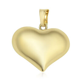 Vicenza Collection Heart Pendant in 9K Yellow Gold