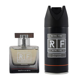 Retrofire Giftset (100ml Eau De Toilette & Deodorant Body Spray - 150ml)