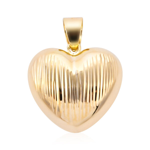 Royal Bali Collection Heart Pendant in 9K Yellow Gold