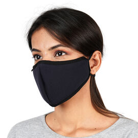 6 Layer Washable Anti-Dust Face Covering (One Size - 13x24cm) - Navy Blue