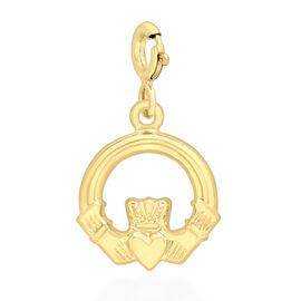 9K Yellow Gold Claddagh Bolt Ring Charm