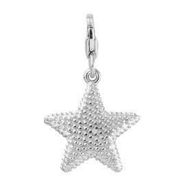 Platinum Overlay Sterling Silver Star Fish Charm
