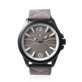 STRADA Japanese Movement Water Resistance Watch - Taupe