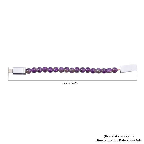 Amethyst Phone Charger Bracelet (Size 7.75) 75.00 Ct.