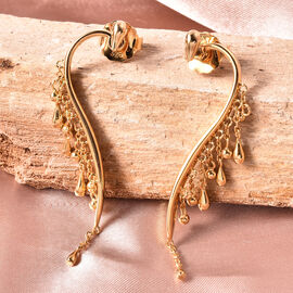 LucyQ Drip Collection - Yellow Gold Overlay Sterling Silver Earrings (with Push Back)
