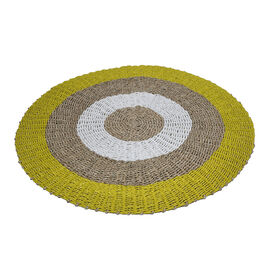 100% handmade woven rug in tfrom indonesia Material: Seagrass and Synthetic Fiber