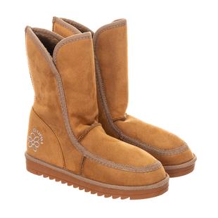 GURU Womens Winter Fluffy Ankle Boots - Honey/Tan
