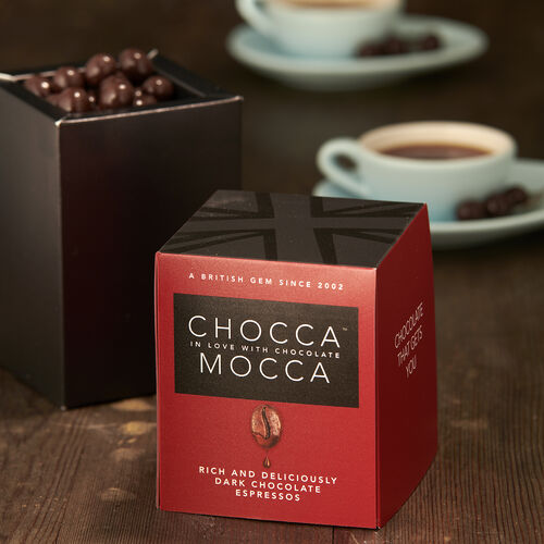 Chocca Mocca - Espresso Coffee Beans Coated in Plain Chocolate - 110g