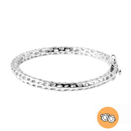 RACHEL GALLEY Rhodium Overlay Sterling Silver Allegro Kids Bangle (Size 4.95)