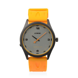 KYBOE Japanese Movement 100M Water Resistant Bright Marigold LED Watch in Stainless Steel with Mango