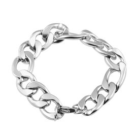 Chain Bracelet in Stainless Steel 8 Inch