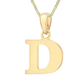 9K Yellow Gold Initial D Pendant
