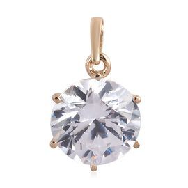 J Francis - 9K Yellow Gold (Rnd) Solitaire Pendant Made with SWAROVSKI ZIRCONIA 2.04 Ct.